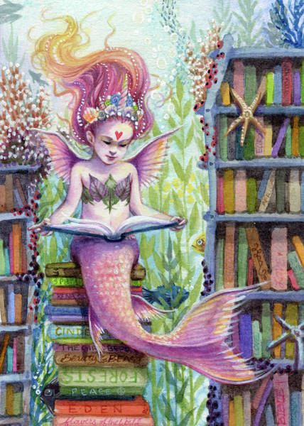 Sara Painting - The Library by Sara Burrier
