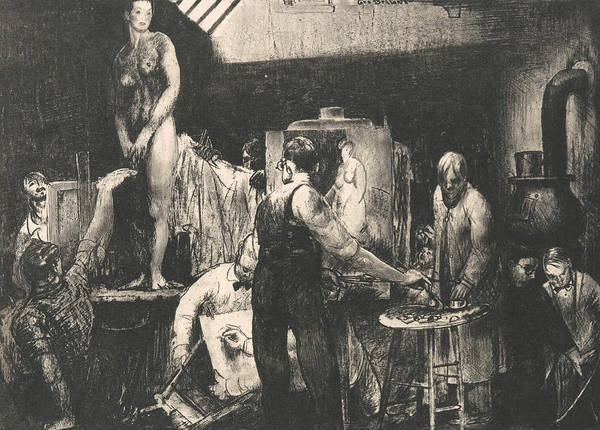 Relief - The Life Class, Second Stone by George Bellows