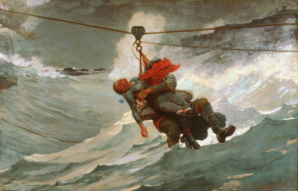Painting - The Life Line By Winslow Homer 1884 by Movie Poster Prints