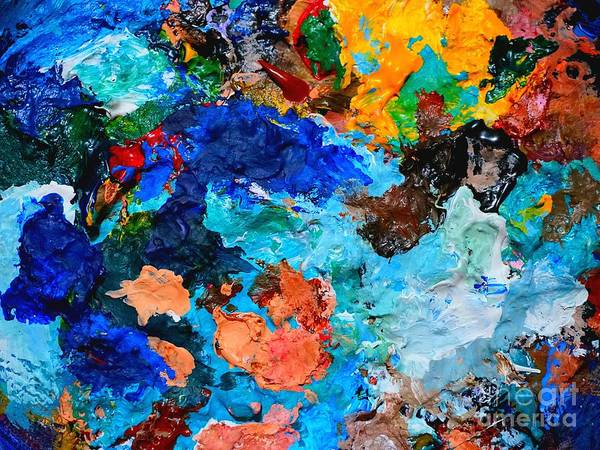 Painting - The Life Of My Palette by Christopher Shellhammer