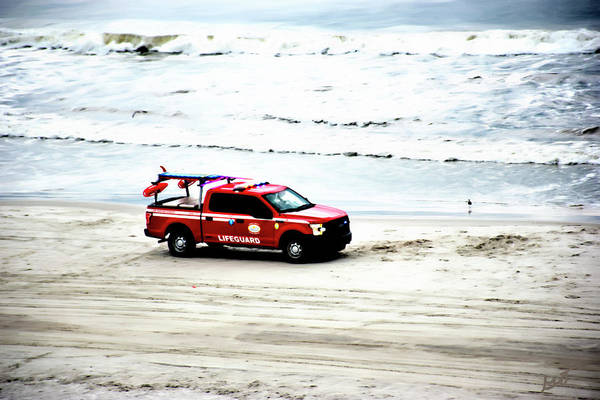 Photograph - The Lifeguard Truck by Gina O'Brien