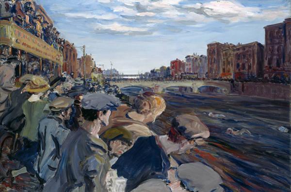 Wall Art - Painting - The Liffey Swim by Jack Butler Yeats