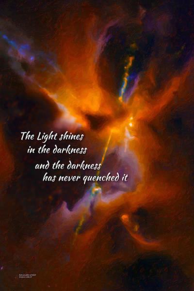 Digital Art - The Light by Chuck Mountain