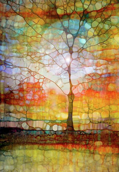 Distortions Digital Art - The Light Circle by Tara Turner
