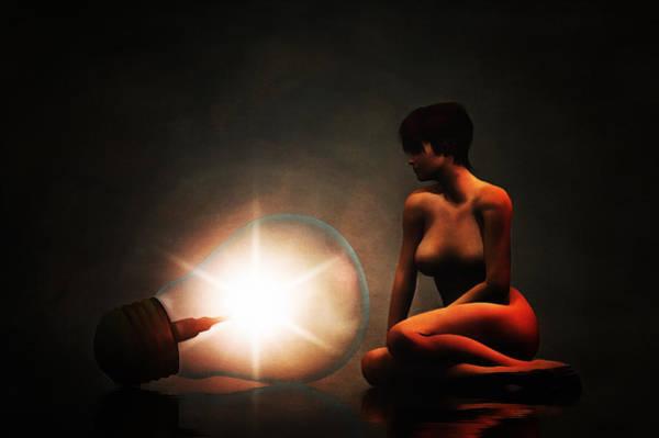 Painting - The Light by Jan Keteleer