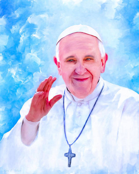 Wall Art - Mixed Media - The Light Of Pope Francis by Mark Tisdale
