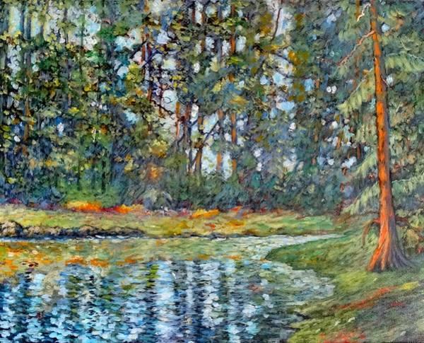 Tacoma Painting - The Light On Honeymoon Bay Fox Island by Charles Munn