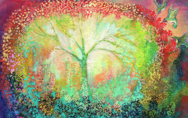 Spiritual Painting - The Light Within by Jennifer Lommers