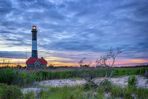 Photograph - The Lighthouse At Dusk by Rick Berk