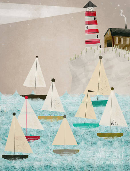 Wall Art - Painting - The Lighthouse by Bri Buckley