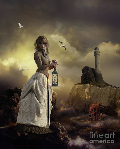 Seagull Digital Art - The Lighthouse Keeper's Daughter by Shanina Conway