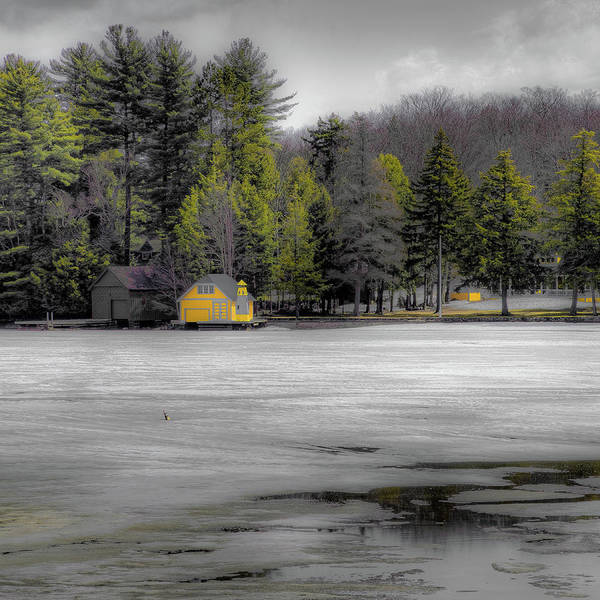 Photograph - The Lighthouse On Frozen Pond by David Patterson