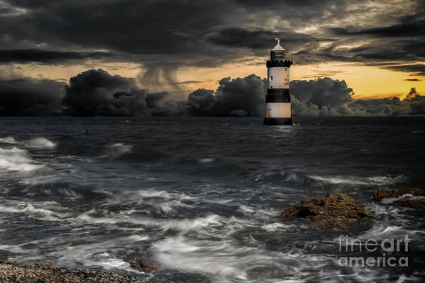 Wall Art - Photograph - The Lighthouse Storm by Adrian Evans