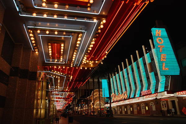 Photograph - The Lights Are On In Las Vegas by Susanne Van Hulst
