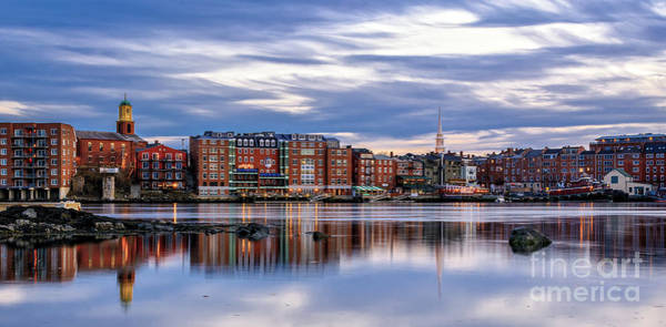 Nh Photograph - The Lights Come On In Portsmouth by Scott Thorp