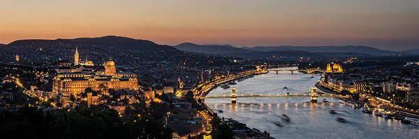 Donau Photograph - The Lights Of Budapest by Thomas D Morkeberg