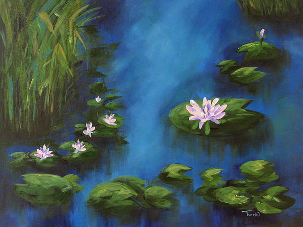 Wall Art - Painting - The Lily Pond IIi by Torrie Smiley