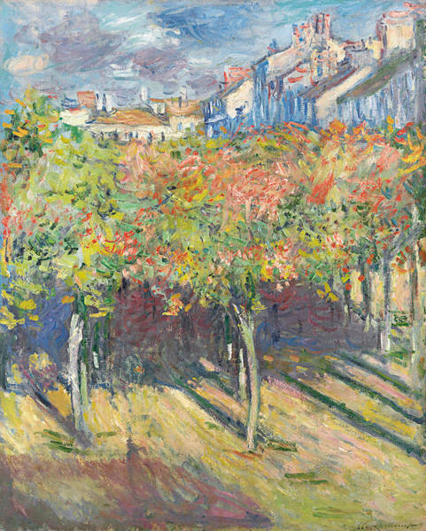 Lime Painting - The Lime Trees At Poissy by Claude Monet