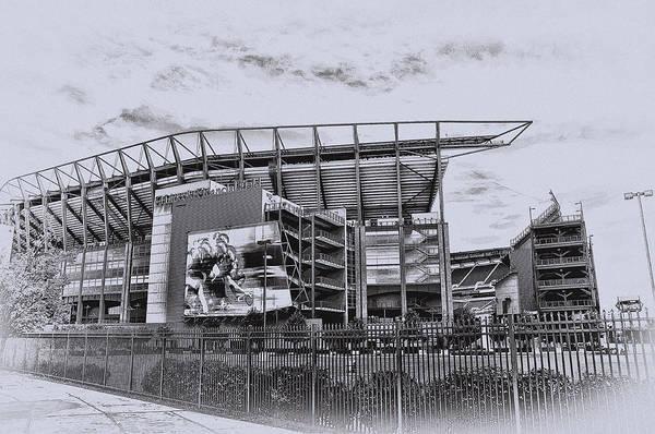 Digital Art - The Linc - Philadelphia Eagles by Bill Cannon