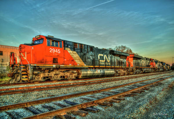 Canadian National Railway Photograph - The Line Up Canadian National Norfolk Southern Locomotives Art by Reid Callaway