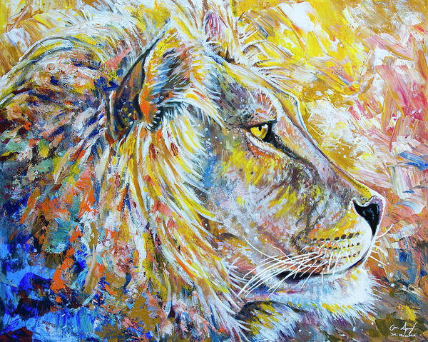 Painting - The Lion by Aaron Spong