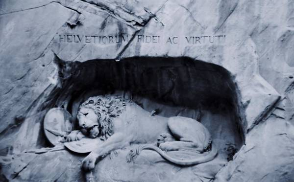 Virtue Photograph - The Lion Of Lucerne by Dan Sproul