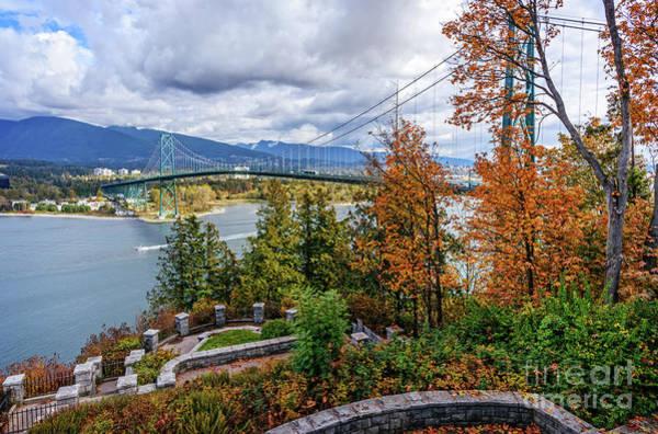 Canada Wall Art - Photograph - The Lions Gate Bridge by Viktor Birkus