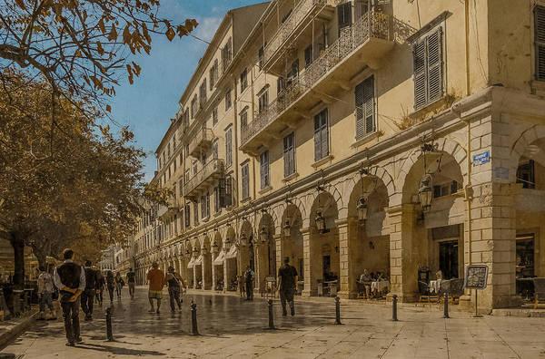 Photograph - Corfu, Greece - The Liston by Mark Forte