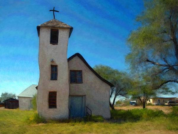 Outdoors Mixed Media - The Little Church by Snake Jagger