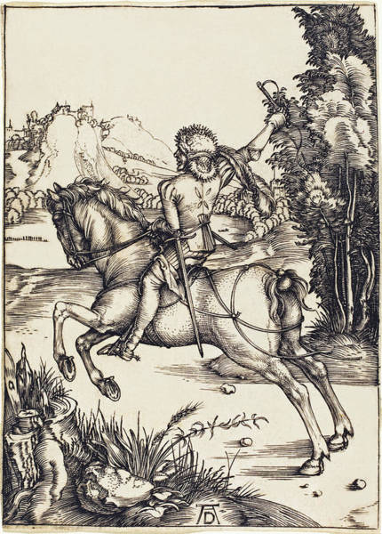 Drawing - The Little Courier by Albrecht Durer