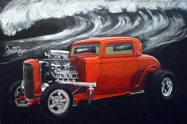 Painting - The Little Deuce Coupe by Richard Le Page