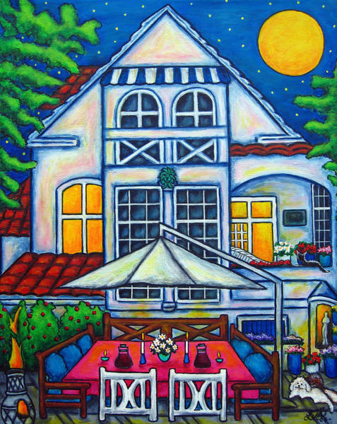 Painting - The Little Festive Danish House by Lisa  Lorenz