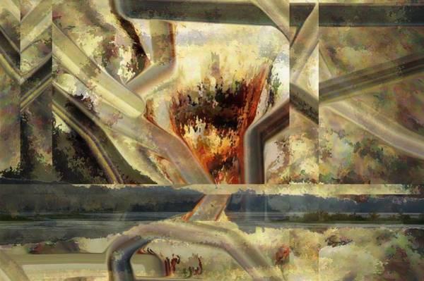 Digital Art - The Little Island by rd Erickson