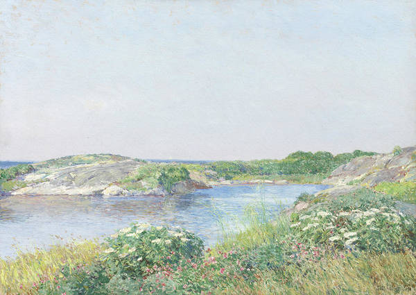 New Hampshire Painting - The Little Pond, Appledore by Childe Hassam