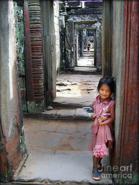 Photograph - The Little Postcard Seller by Eena Bo