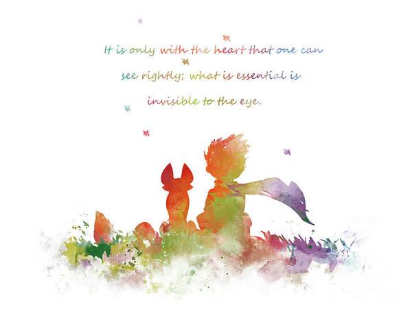 Fox Mixed Media - The Little Prince by Monn Print