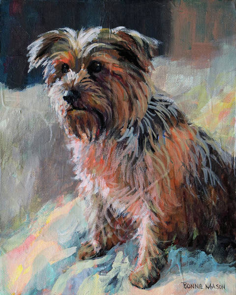 Yorkshire Terrier Painting - The Little Princess by Bonnie Mason