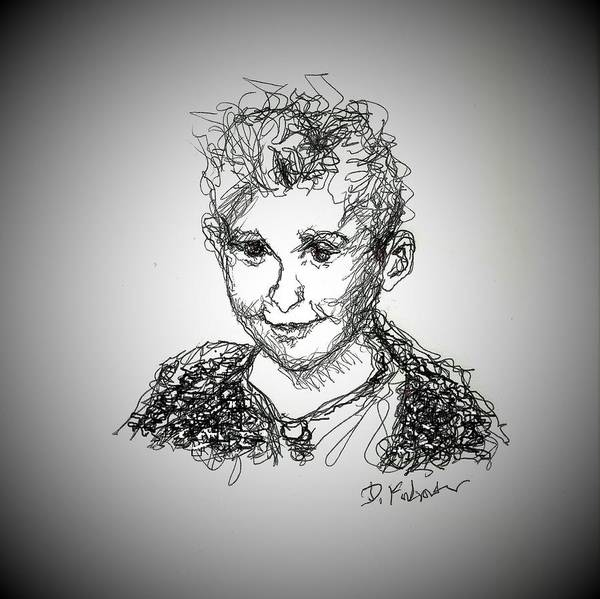 Drawing - The Little Rapper by Denise F Fulmer