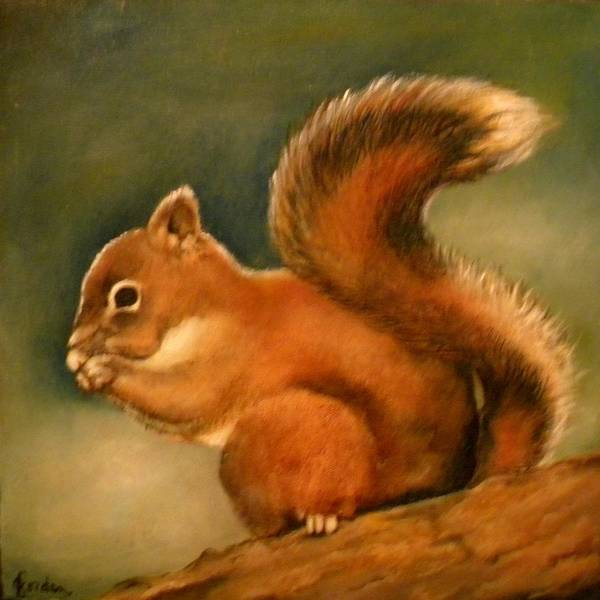 Painting - The Little Squirrel by Jordana Sands