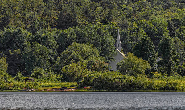 Photograph - The Little White Church On The Banks Of Crystal Lake by Brian MacLean