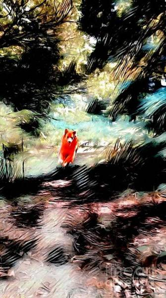 Digital Art - The Little Wood Nymph by Abbie Shores