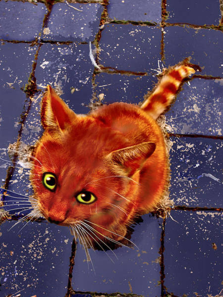 Tigger Wall Art - Digital Art - The Littlest Ginger Pussycat by Kirsten Preston