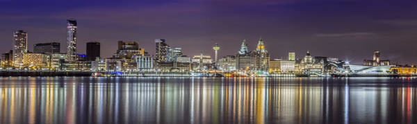 Wall Art - Photograph - The Liverpool Waterfront Skyline by Paul Madden