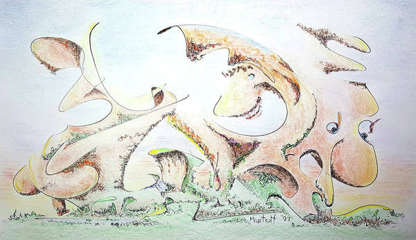 Drawing - The Living Planet by Dave Martsolf