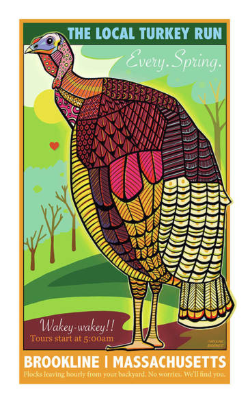Turkey Digital Art - The Local Turkey Run by Caroline Barnes