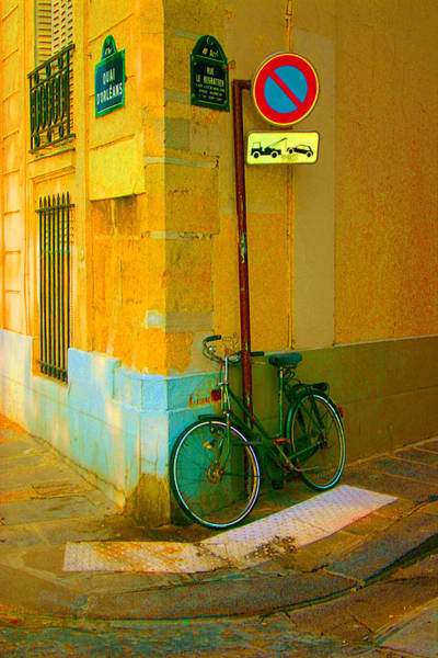 The Locked Bike Art Print by Dennis Curry