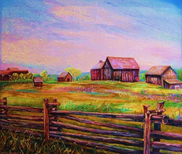 Painting - The Log Fence by Carole Spandau