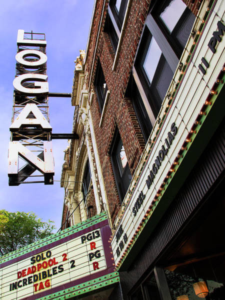 Wall Art - Photograph - The Logan Show Logan Theater by William Dey