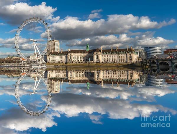 Piers Digital Art - The London Eye by Adrian Evans