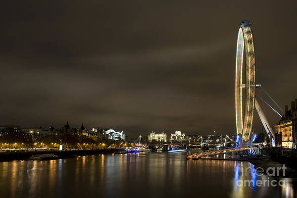 Millenium Photograph - The London Eye by Angel Ciesniarska